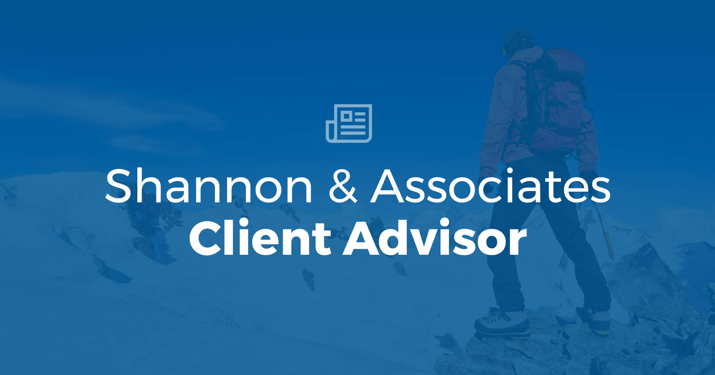 Client Advisor – Winter 2020
