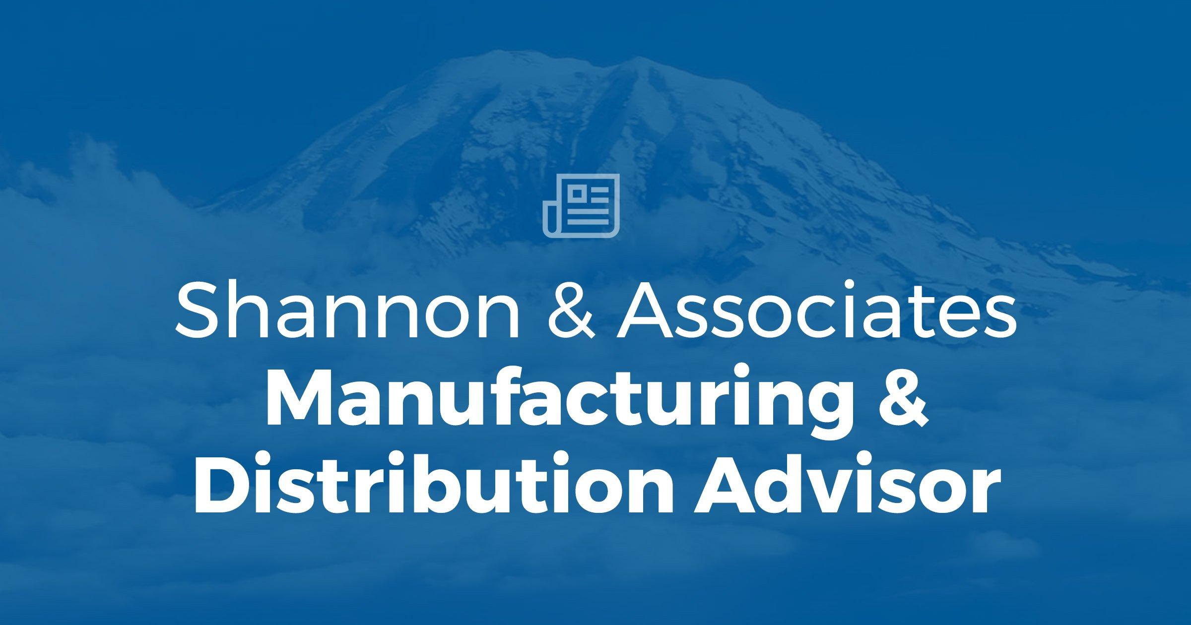Manufacturing & Distribution Advisor – Summer 2019